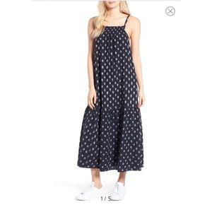 Current/Elliott The Holly Midi Dress Woven Pockets